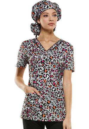 Dickies V-Neck Top Let There Be Leopard (84724C-LELD)