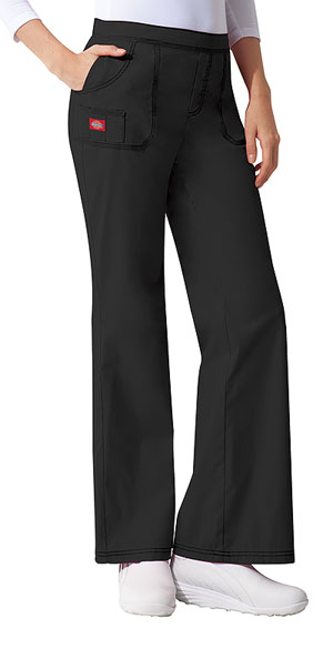Dickies Gen Flex Mid Rise Pull-On Pant in Black (857355-BLKZ)
