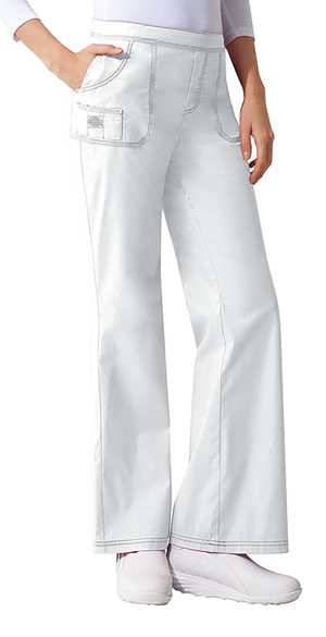 Dickies Gen Flex Mid Rise Pull-On Pant in White (857355-DWHZ)