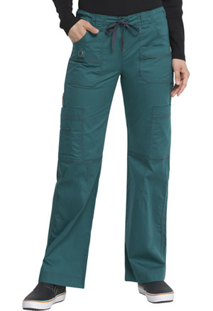 Dickies Gen Flex Low Rise Drawstring Cargo Pant in Hunter (857455-HTRZ)