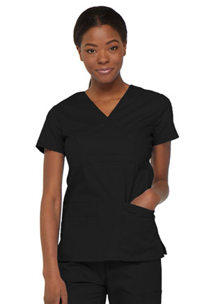 Dickies EDS Signature Mock Wrap Top in Black (85820-BLWZ)