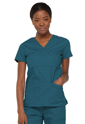 Dickies Mock Wrap Top Caribbean Blue (85820-CAWZ)