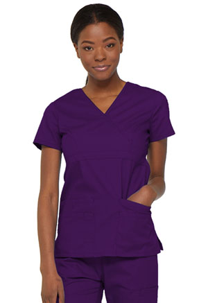 Dickies EDS Signature Mock Wrap Top in Eggplant (85820-EGWZ)