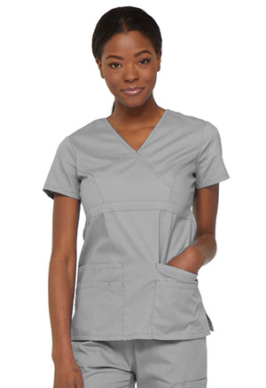 Dickies Mock Wrap Top Grey (85820-GRWZ)