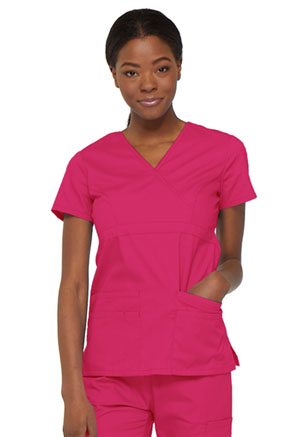 Dickies EDS Signature Mock Wrap Top in Hot Pink (85820-HPKZ)