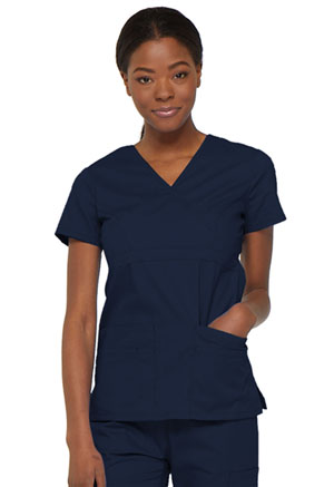 Dickies Mock Wrap Top Navy (85820-NVWZ)