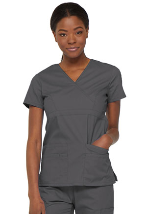 Dickies EDS Signature Mock Wrap Top in Pewter (85820-PTWZ)