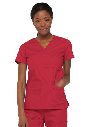 Dickies EDS Signature Mock Wrap Top in Red (85820-REWZ)