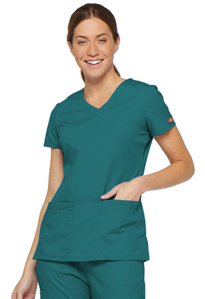 Dickies V-Neck Top Teal Blue (85906-TLWZ)