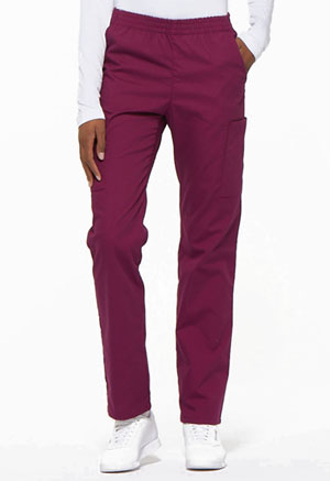 Dickies EDS Signature Natural Rise Tapered Leg Pull-On Pant in Wine (86106-WIWZ)