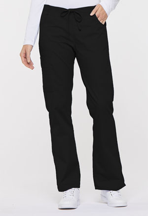 Dickies EDS Signature Mid Rise Drawstring Cargo Pant in Black (86206-BLWZ)