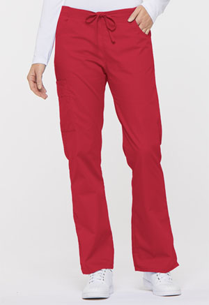 Dickies EDS Signature Mid Rise Drawstring Cargo Pant in Red (86206-REWZ)