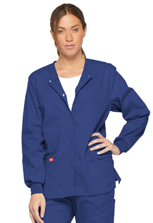 Dickies EDS Signature Snap Front Warm-Up Jacket in Galaxy Blue (86306-GBWZ)