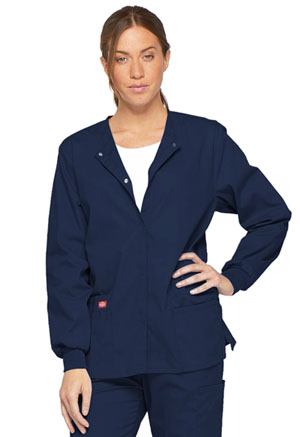 Dickies EDS Signature Snap Front Warm-Up Jacket in Navy (86306-NVWZ)