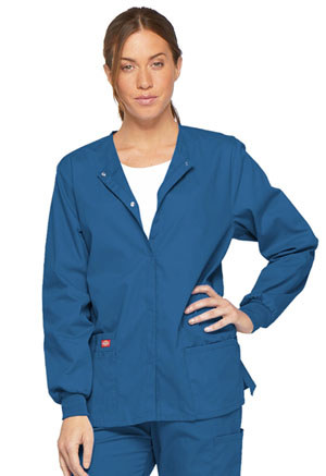 Dickies EDS Signature Snap Front Warm-Up Jacket in Royal (86306-ROWZ)