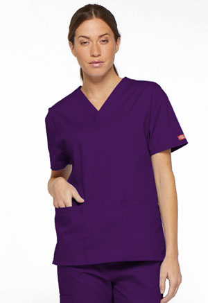 Dickies V-Neck Top Eggplant (86706-EGWZ)