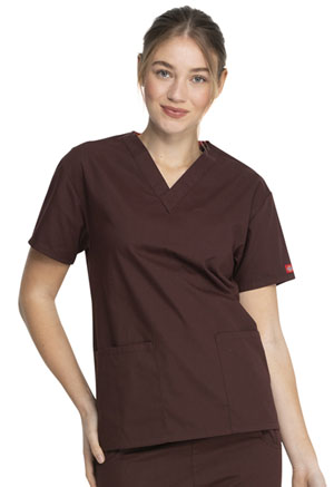 Dickies V-Neck Top Espresso (86706-ESP)