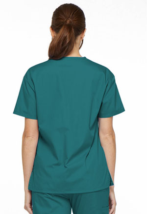 Dickies EDS Signature V-Neck Top in Teal Blue (86706-TLWZ)