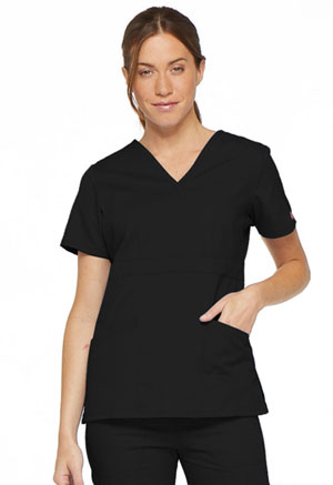 Dickies EDS Signature Mock Wrap Top in Black (86806-BLWZ)