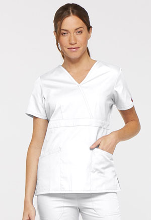 Dickies Mock Wrap Top White (86806-WHWZ)