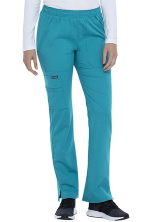 Sanibel Elastic Waist Pull-on Cargo Pant Teal Blue (9165-TLRS)