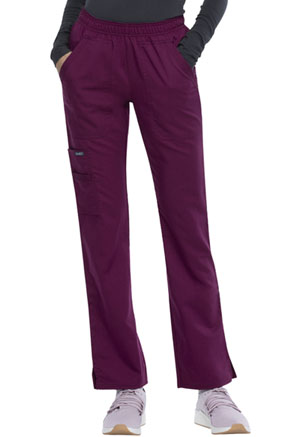 Sanibel Elastic Waist Pull-on Cargo Pant Wine (9165-WIRS)