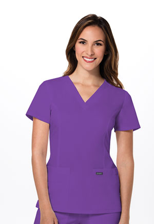 Sanibel V-Neck Top Blooming Violet (9765-BVRS)