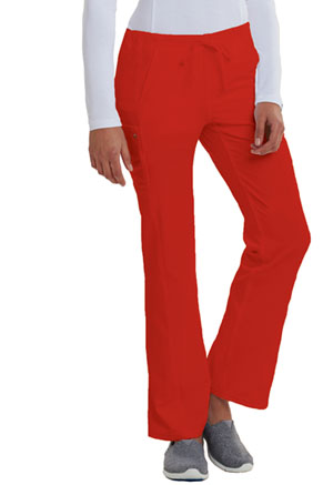 Low Rise Straight Leg Drawstring Pant (CA100-RED)