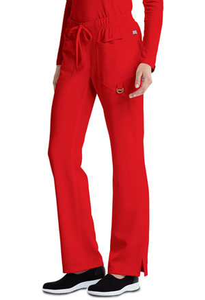 Low Rise Straight Leg Drawstring Pant (CA105AT-RED)