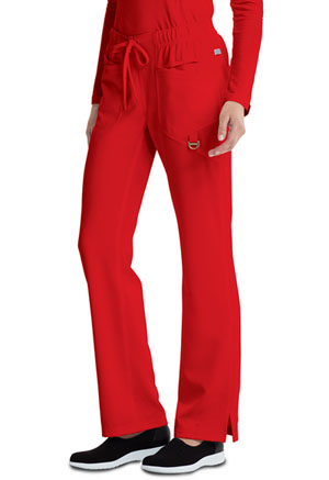 Low Rise Straight Leg Drawstring Pant (CA105A-RED)