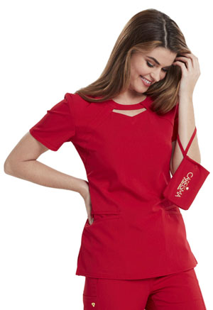 Careisma Round Neck Top Red (CA602-RED)