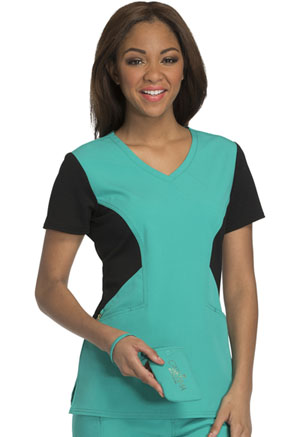 Careisma V-Neck Top Emerald Green (CA605-EGBK)