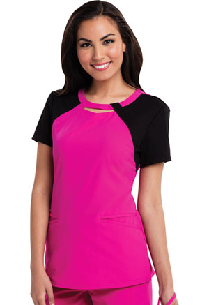 Careisma Round Neck Top Hot Magenta (CA606-HGBK)