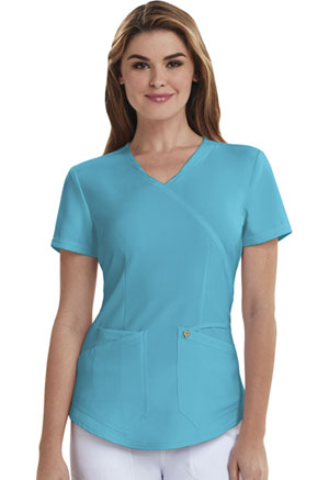 Careisma Mock Wrap Top Aqua Rush (CA610A-ARH)