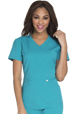Careisma Mock Wrap Top Teal Blue (CA610A-TEA)