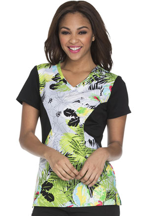 Careisma Careisma Prints Women's V-Neck Top Tropical Daydream