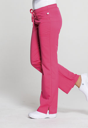 Code Happy Code Happy Cloud Nine Women's Mid Rise Moderate Flare Leg Pant Pink