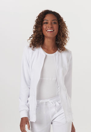 Code Happy Code Happy Cloud Nine Women's Zip Front Warm-Up Jacket White