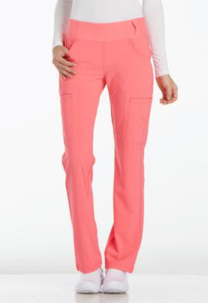 Cherokee iFlex by Cherokee Women's Mid Rise Straight Leg Pull-on Pant Pink