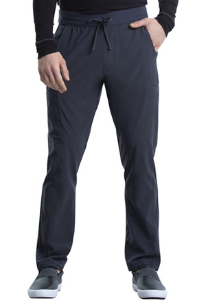 Cherokee Men's Tapered Leg Drawstring Cargo Pant Pewter (CK006-PWT)