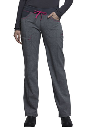 Cherokee Low Rise Straight Leg Drawstring Pant Heather Grey (CK030A-HTGR)