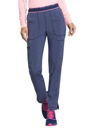 Cherokee Mid Rise Tapered Leg Pull-on Pant Heather Navy (CK050A-HTNA)