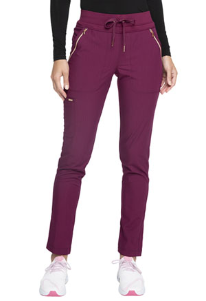 Cherokee Mid Rise Straight Leg Drawstring Pants Wine (CK055-WIN)