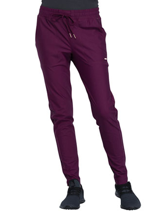 Cherokee Form Mid-Rise Tapered Leg Drawstring Pant (CK090-WIN) (CK090-WIN)