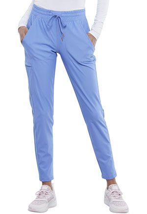 Cherokee Form Mid Rise Tapered Leg Drawstring Pant (CK095-CIE) (CK095-CIE)