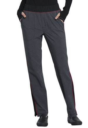 Cherokee Mid Rise Tapered Leg Pull-on Pant Heather Charcoal (CK125A-HTCH)