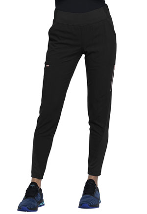 Statement Mid-Rise Tapered Leg Pull-on Pant (CK175-BLK) (CK175-BLK)