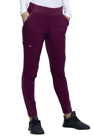 Cherokee Mid-Rise Tapered Leg Pull-on Pant Wine (CK175-WIN)