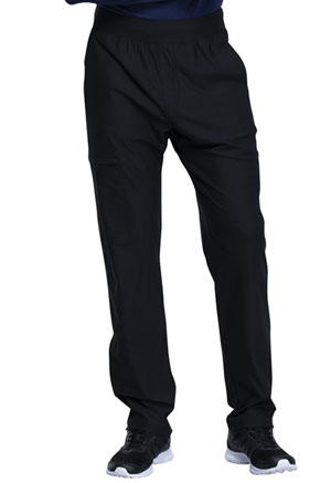 Cherokee Form Men's Tapered Leg Pull-on Pant (CK185-BLK) (CK185-BLK)