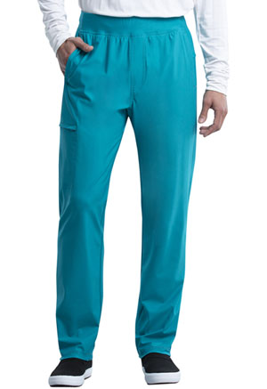 Cherokee Men's Tapered Leg Pull-on Pant Teal Blue (CK185-TLB)